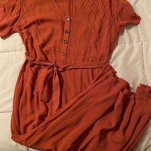 Dresses - Pleat Detail Maxi